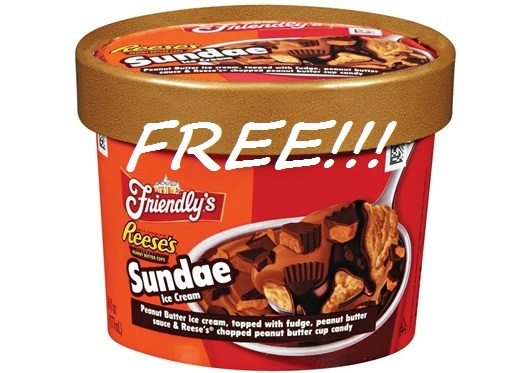 Friendly's Ice Cream Sundae cup FREE