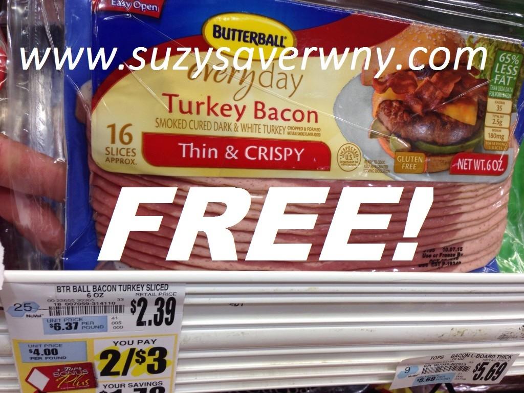 Butterball Turkey Bacon Tops Markets Sale FREE