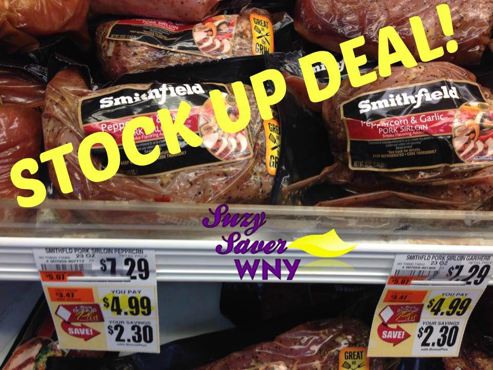 Smithfield Marinated Pork Sirloin Tops Marktets Sale 9.2015 STOCK UP DEAL