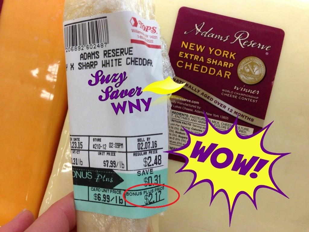 Adams Reserve Cheese Tops Markets DEAL