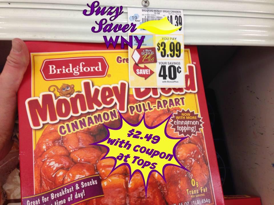 Bridgford Monkey Bread Tops Markets Deal Suzy Saver WNY
