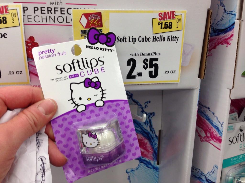 Softlips Cube Hello Kitty Tops Markets