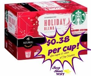 Starbucks K-cups Holiday Blend Tops Markets Deal December 2015