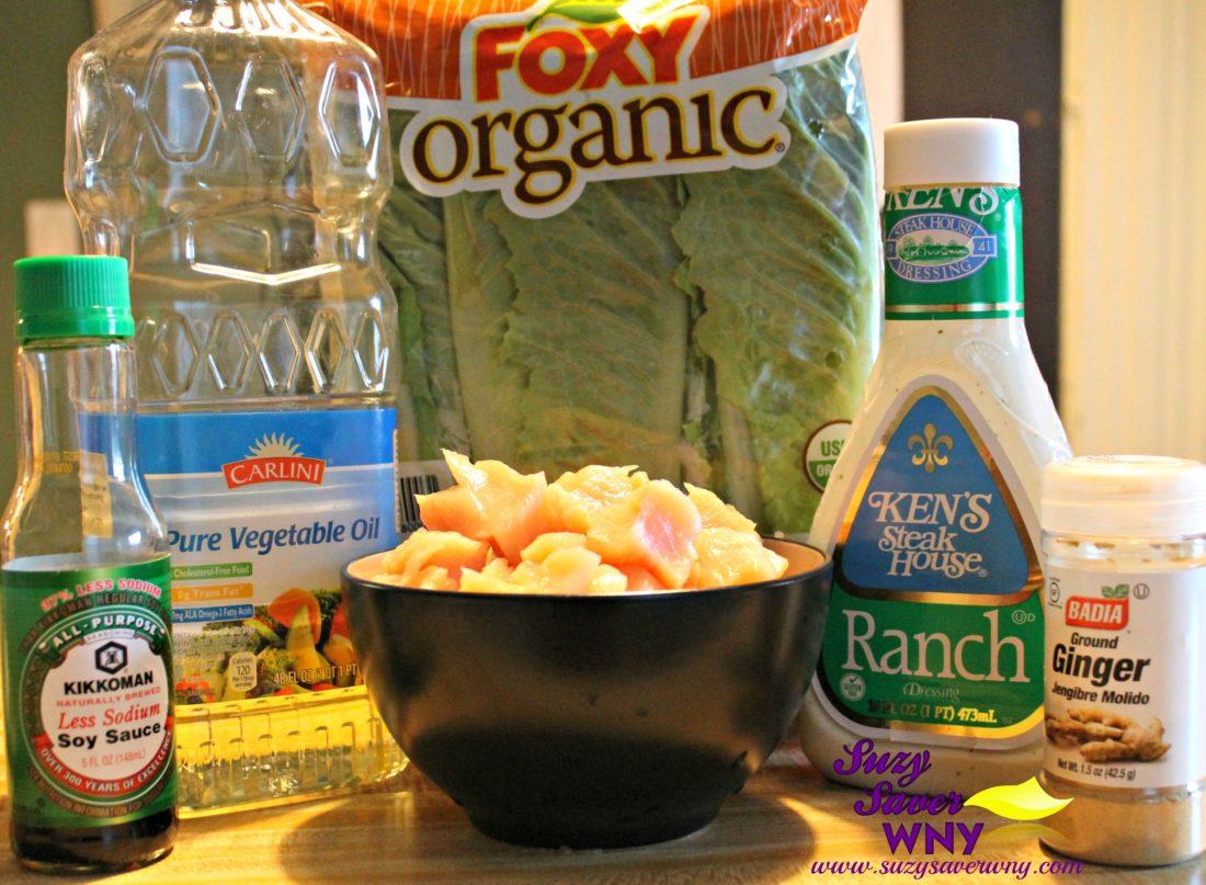 Easy 6-Ingredient Ginger Chicken Salad Receipe Ingredients Suzy Saver WNY