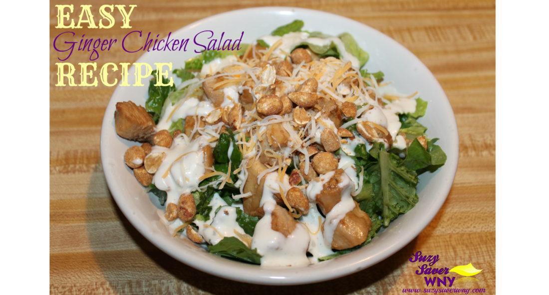 Easy Ginger Chicken Salad Recipe Final Product Suzy Saver WNY