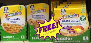Gerber Graduates Lil' Meals or Pasta Pickups Tops Markets Sale FREE Suzy Saver WNY