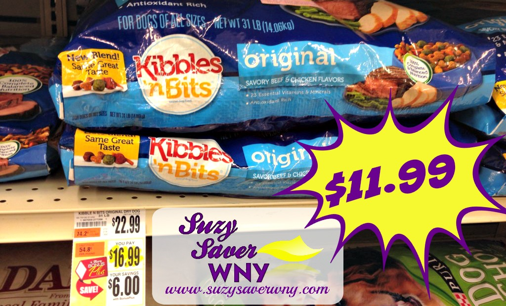 picture regarding Kibbles and Bits Printable Coupons titled Tops Marketplaces: $5.00 Kibbles n Bits Doggy Meals Coupon + Tops