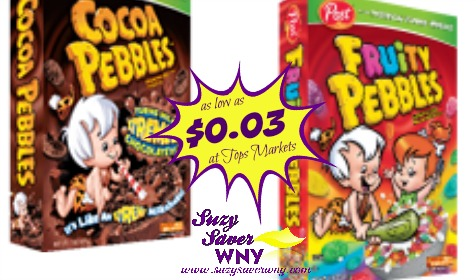 Post Cocoa Fruity Pebbles Cereal Tops Markets Deal $0.03 2016 Suzy Saver WNY