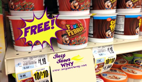 Post Pebbles Cereal Cups Tops Markets FREE 2016 Suzy Saver WNY