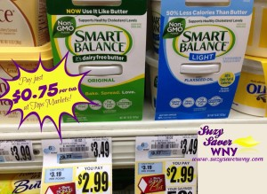 Smart Balance Non-GMO Buttery Spread Tops Markets Deal $0.75 2016 Suzy Saver WNY