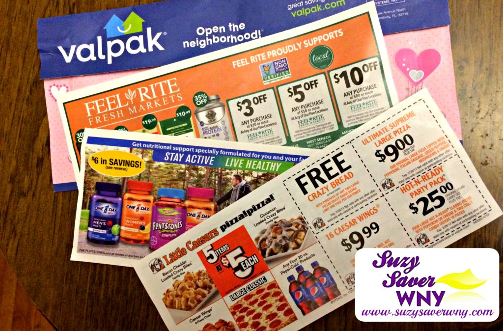Valpak Coupons Frugal Tips Suzy Saver WNY