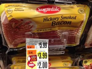 Sugardale bacon 16 oz Tops Markets