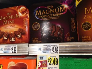 Magnum Chocolate infinity bars Tops Markets