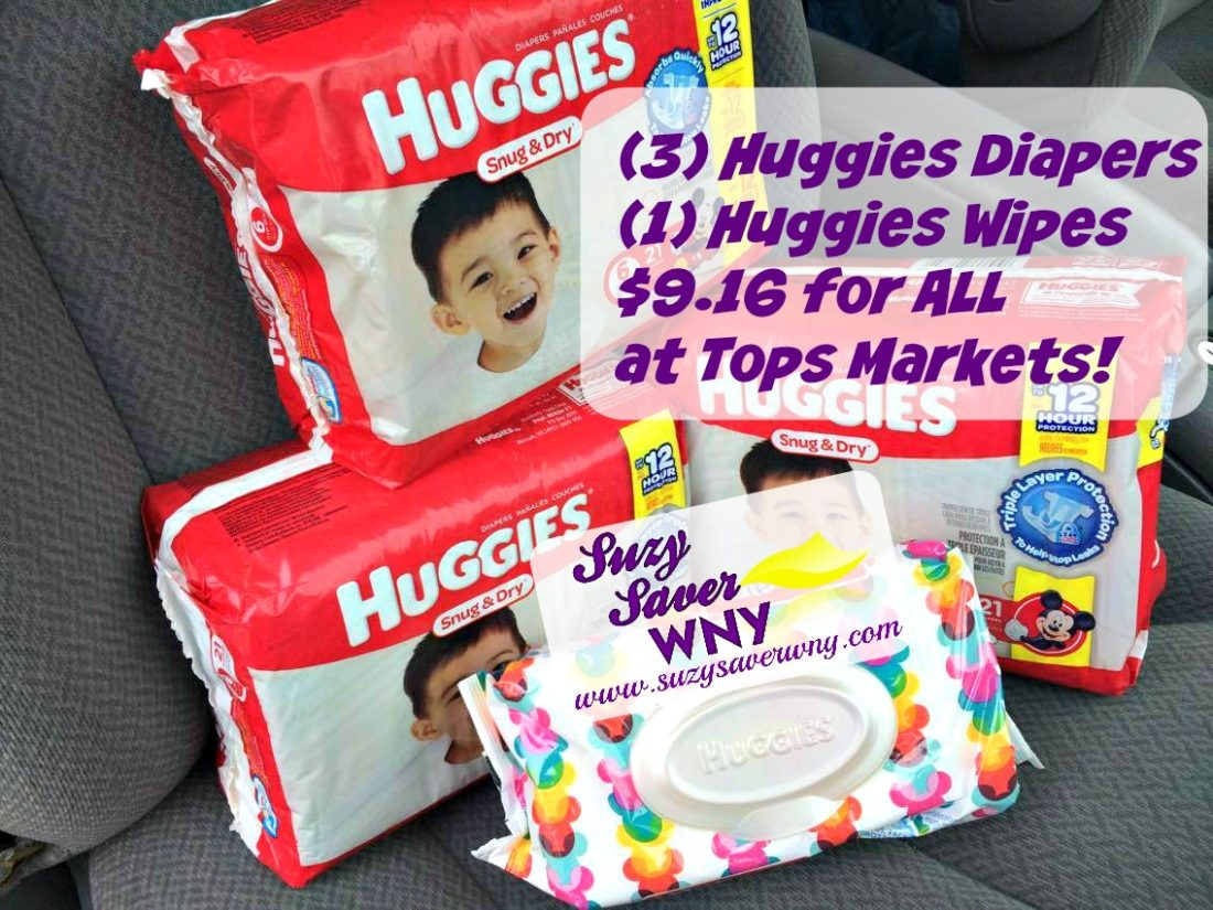 Huggies Diapers wipes stock up deal Tops Markets Suzy Saver WNY