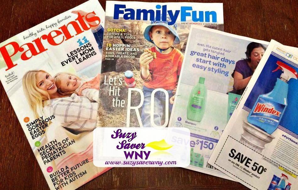 Parents Family Fun Magazine Subscription Free coupons Suzy Saver WNY