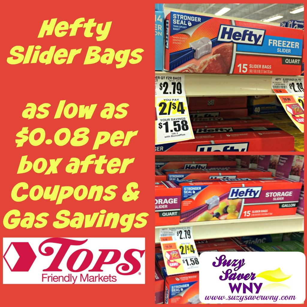 Hefty Slider Bags Tops Markets Gas Box Deal Suzy Saver WNY