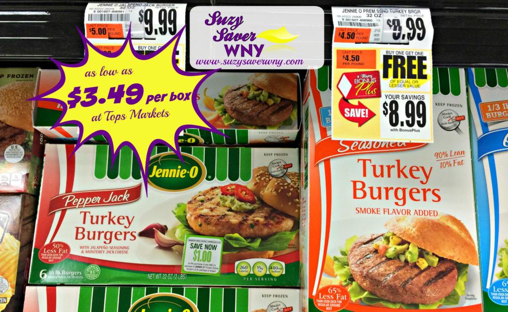 jennie o turkey burgers tops markets sale bogo deal suzy saver wny