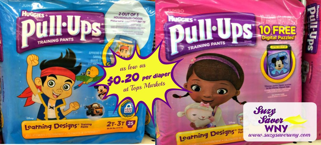 Pull-Ups Training Pants Tops Markets STOCK UP Deal 4.17.16 Suzy Saver WNY