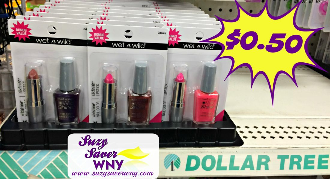 Dollar tree - Wet N Wild Bonus Value Nail Polish Lipstick Gift Pack Dollar Tree Deal Suzy Saver Wny