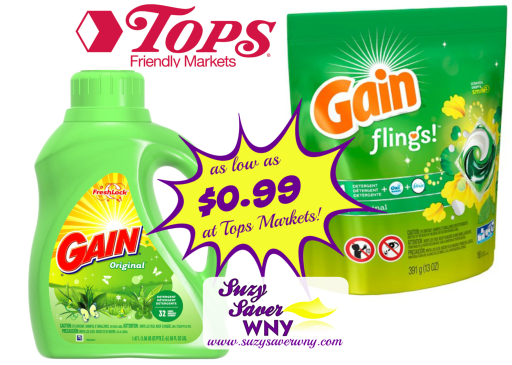 Free coupons for gain laundry detergent