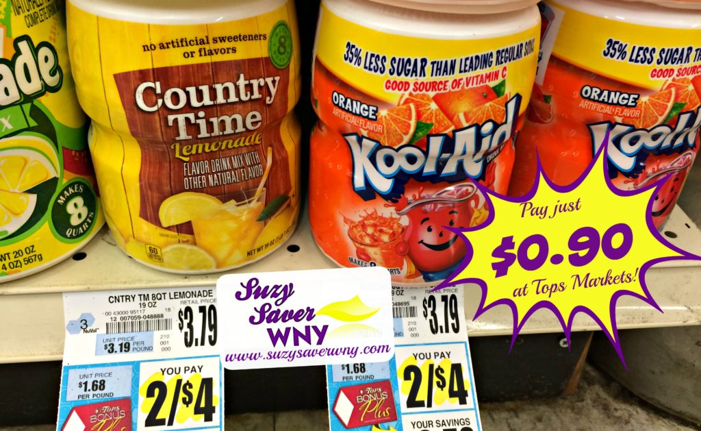Kool Aid Country Time Drink Mix Tops Markets Deal $0.90 Suzy Saver WNY