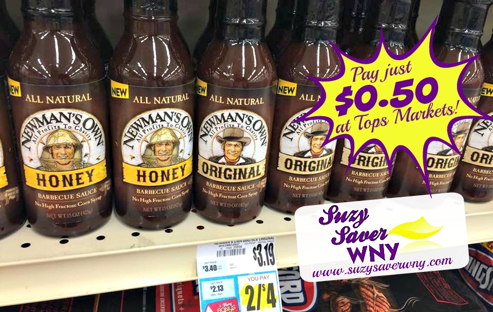 Newman's Own Barbeque Sauce Tops Markets Deal $0.50 Suzy Saver WNY