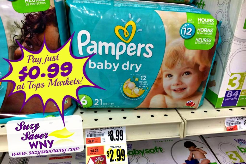 Pampers Baby Dry Diapers Size 6 Tops Markets HOT DEAL Suzy Saver WNY
