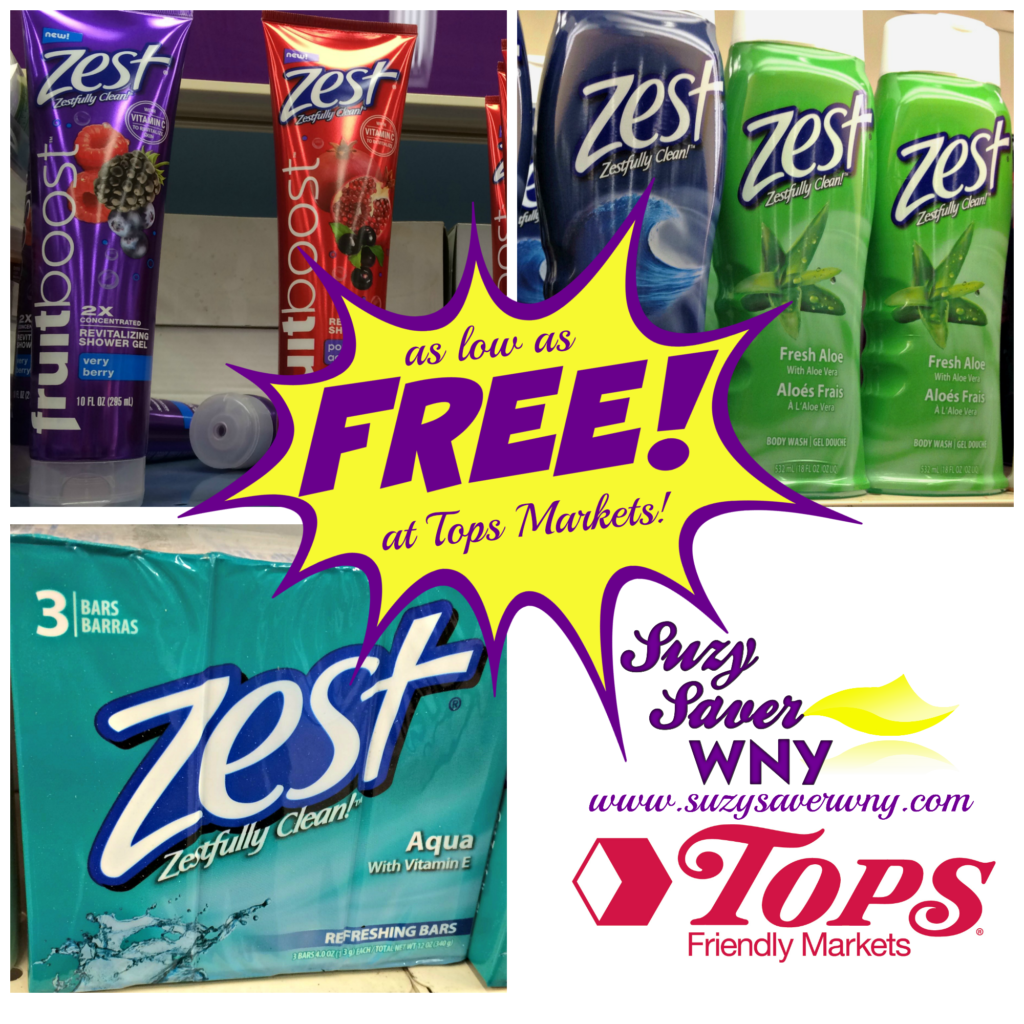 Tops Markets Four Free Zest Products After Coupons Amp Cash