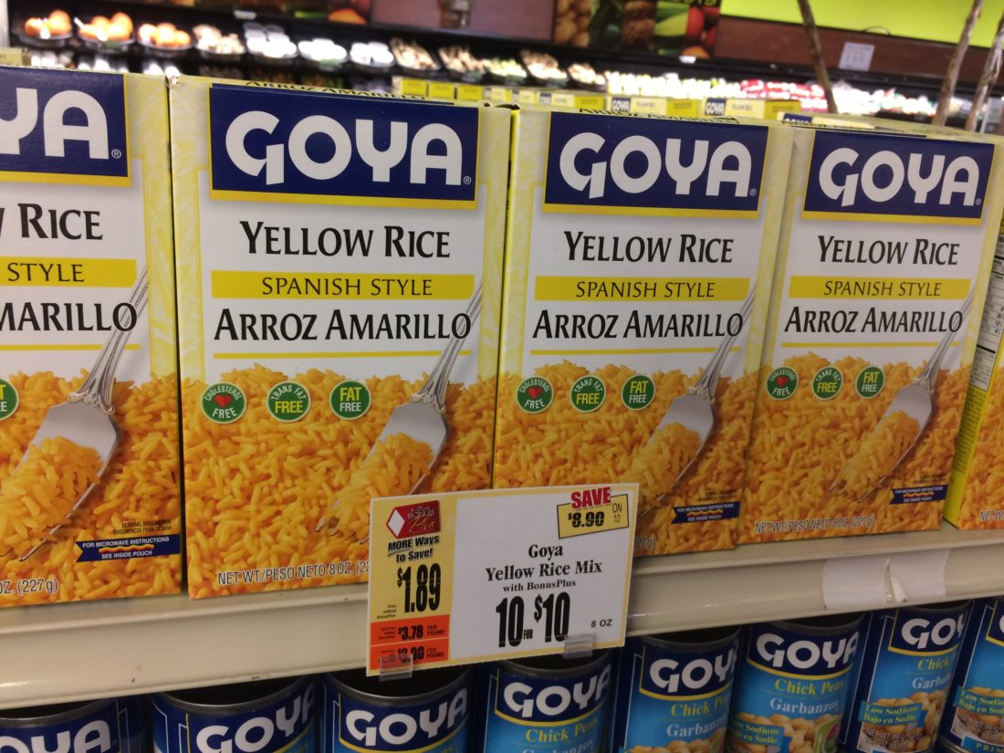 Goya Yellow Rice Tops Markets
