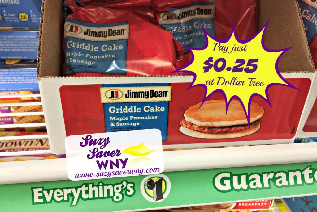 Jimmy Dean Breakfast Sausage Sandwich Dollar Tree Deal $0.25 6.2.16 Suzy Saver WNY