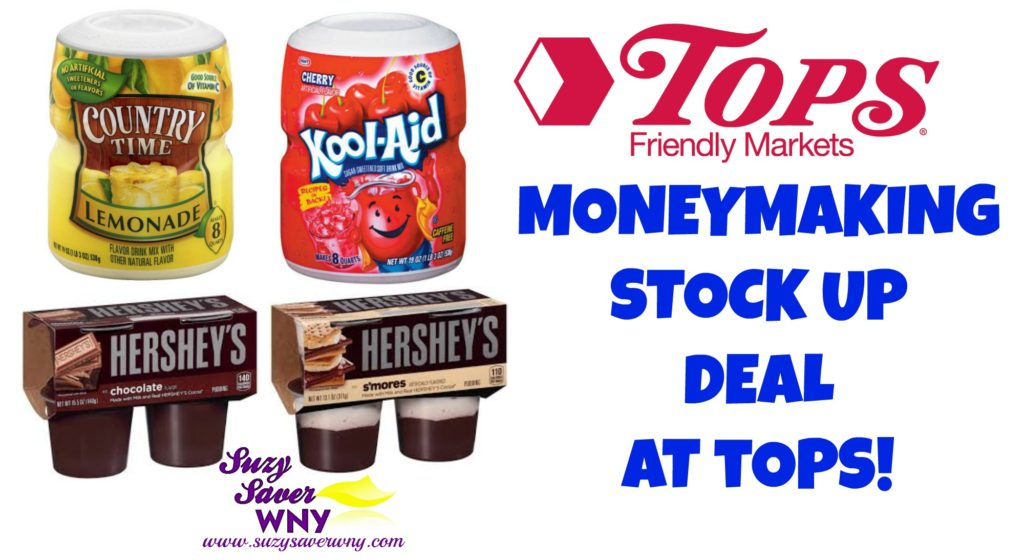 Tops Markets Kool Aid Country Time Hershey's Gas Box STOCK UP MONEYMAKER Deal Suzy Saver WNY