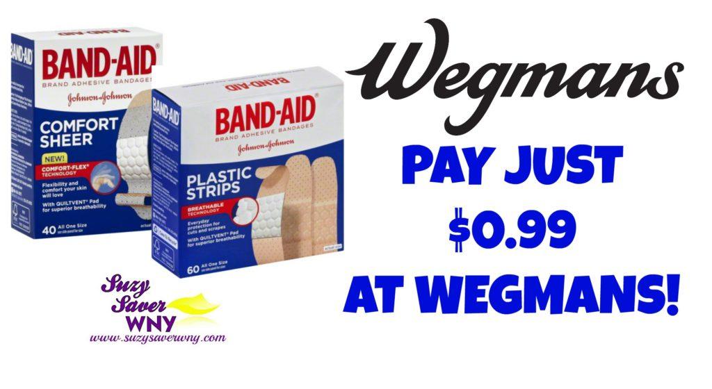 Band Aid Brand Bandages Wegmans Deal $0.99 Suzy Saver WNY