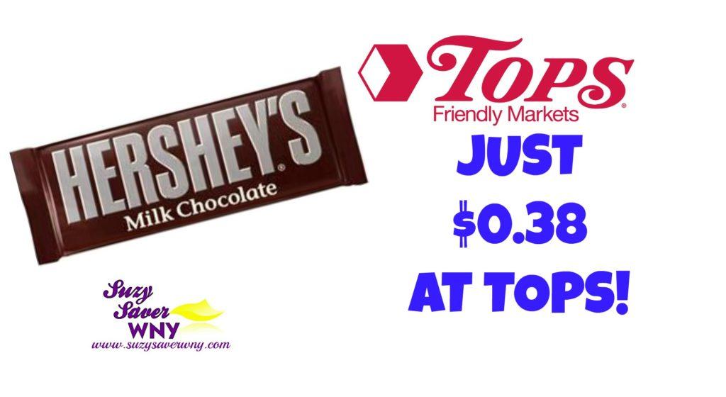 Hershey's Chocolate Bar SavingStar Offer Tops Markets Deal $0.38 Suzy Saver WNY
