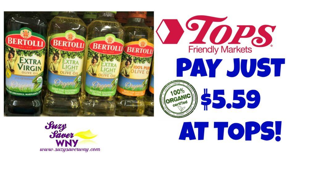 Tops Markets Bertolli Organic Olive Oil Deal $5.59 Suzy Saver WNY