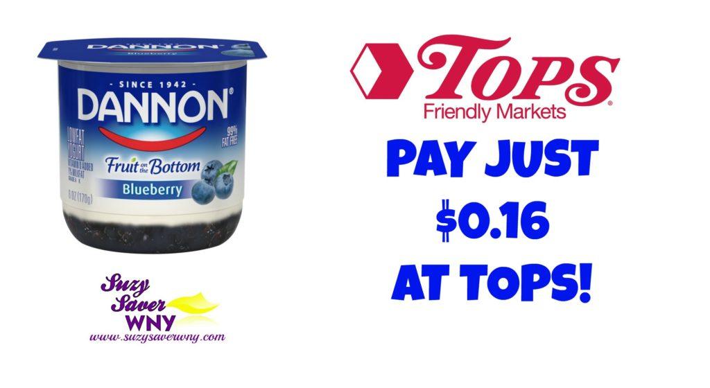 Tops Markets Dannon Yogurt Deal $0.16 Suzy Saver WNY