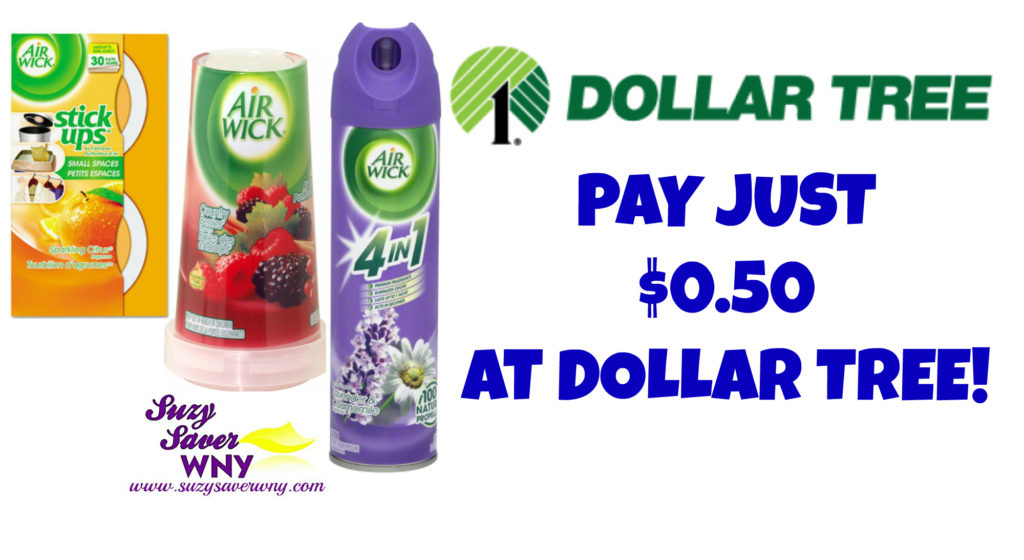 Airwick Air Freshener Dollar Tree Deal $0.50 Suzy Saver WNY