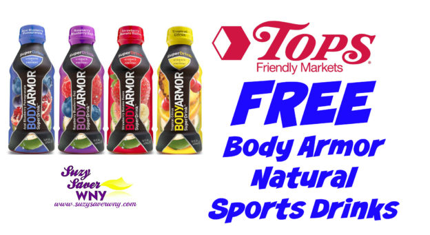 Body Armor Natural Sports Drink Tops Markets Deal FREE August 2016 Suzy Saver WNY