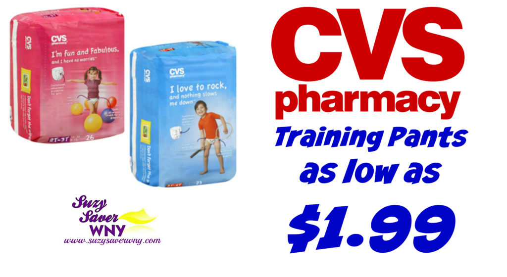 cvs   hot deal  training pants as low as  1 99