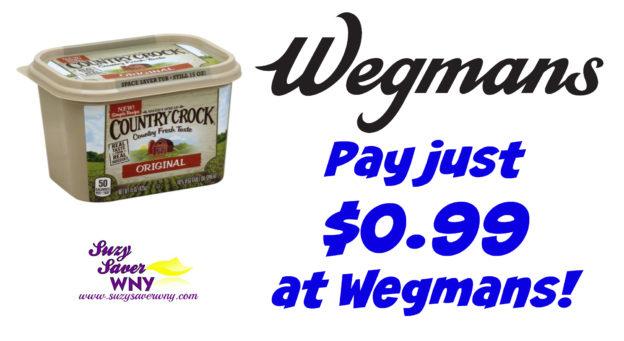 Country Crock Spread Wegmans Deal $0.99 August 2016 Suzy Saver WNY