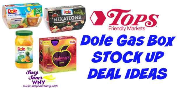 Dole Gas Box STOCK UP DEAL IDEAS Tops Markets 8.28.16 Suzy Saver WNY