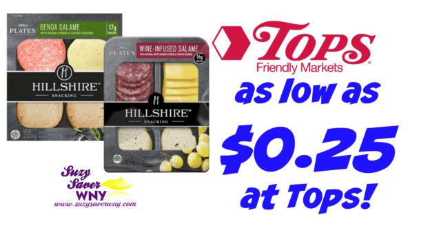 Hillshiare Snacking Plates Tops Markets Deal $0.25 printable coupon ibotta Suzy Saver WNY