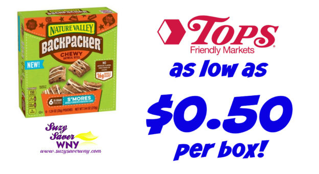 Nature Valley Backpacker Bars Tops Markets Deal $0.50 printable coupon Catalina August 2016 Suzy Saver WNY