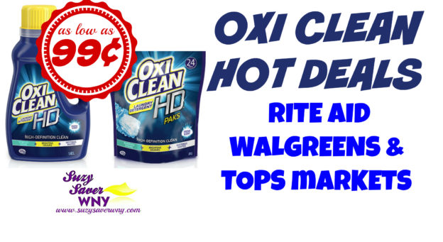 Rite Aid Walgreens Tops Markets Oxi Clean HD Laundry Detergent Printable coupon deal $0.99 Suzy Saver WNY