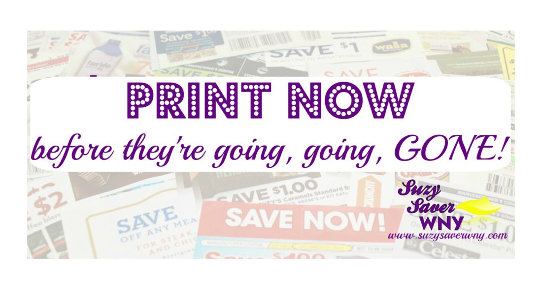 Suzy Saver WNY PRINT NOW Coupons are going to be gone facebook