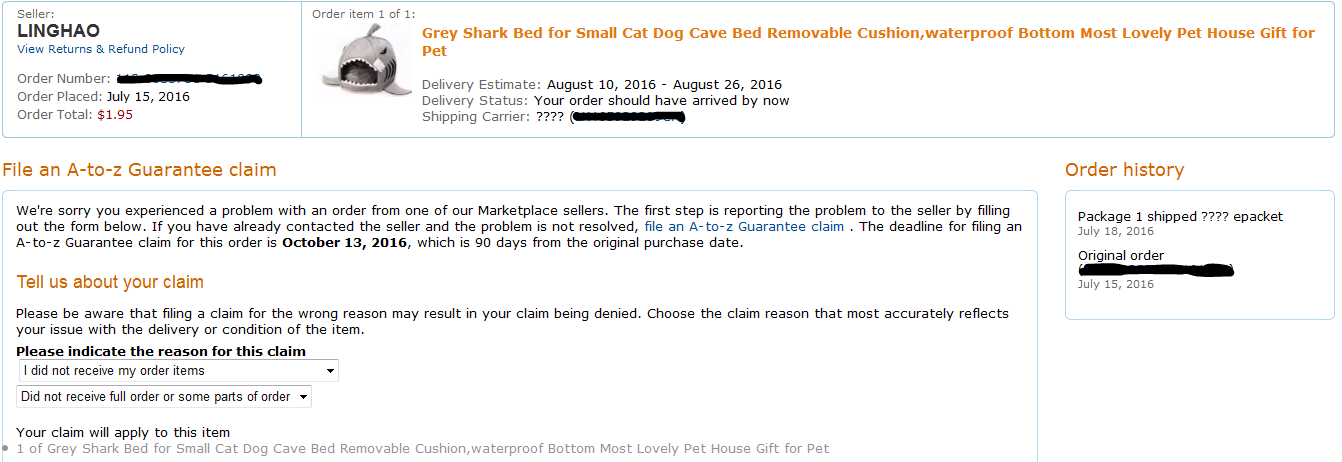 amazon-a-z-claim-shark-bed