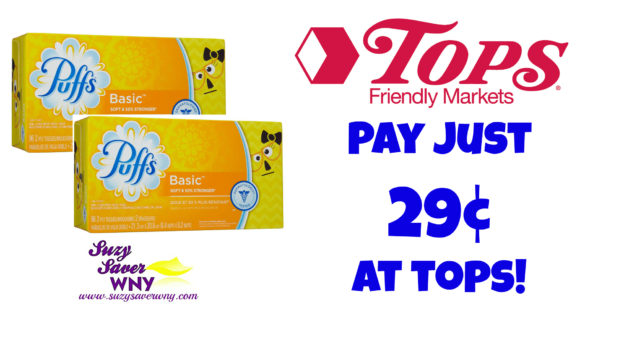 Puffs Basic Tissues Tops Markets Deal $0.29 printable coupon Suzy Saver WNY