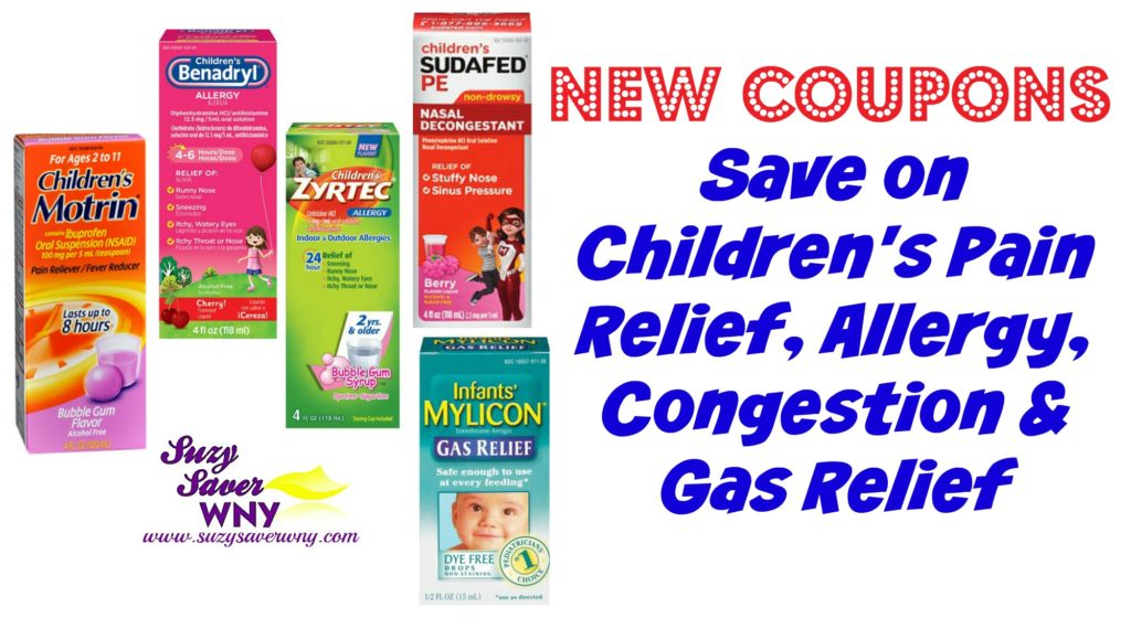 image regarding Zyrtec Coupon Printable named childrens-motrin-benedryl-zyrtec-sudafed-mylicon-ache-reduction