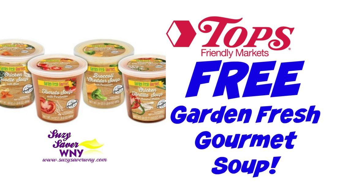 tops markets hot deal two free garden fresh gourmet soups - Garden Fresh Gourmet