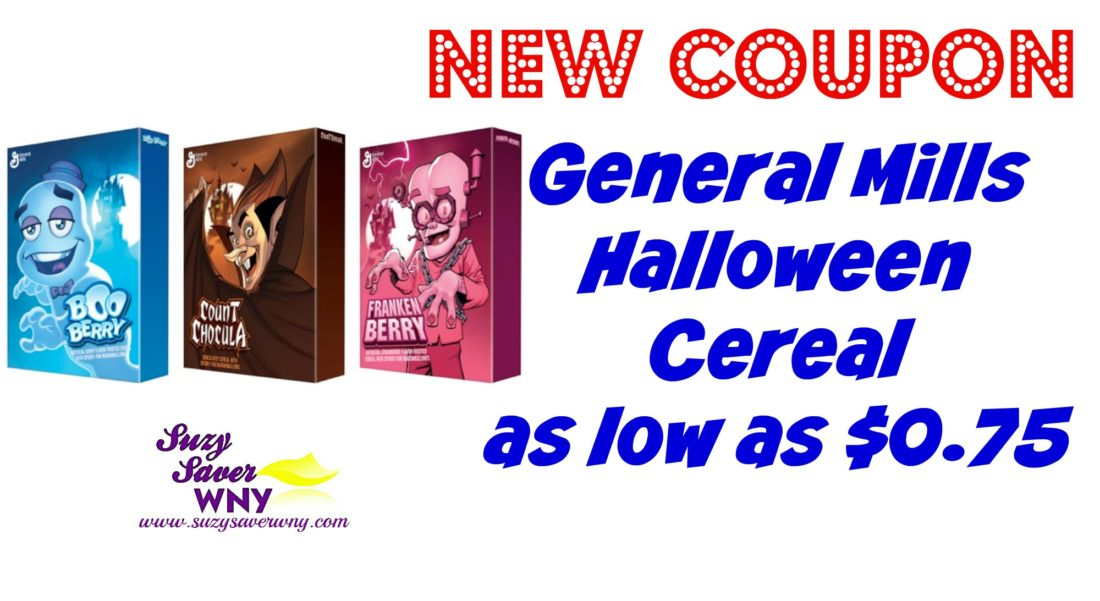 photo about General Mills Coupons Printable titled In general Mills Halloween Cereal - as lower as 75 cents! -