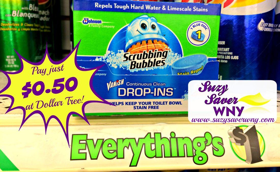 Dollar Tree 0 50 Scrubbing Bubbles Vanish Drop Ins